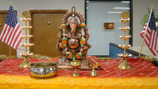 Diwali decoration at Accounting department at Star Pipe Products