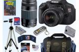 Canon EOS Digital Rebel T3i 18MP SLR Camera 18-55mm & 75-300mm 16GB Bundle!