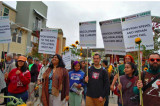 Indian American Activists Protest Climate Polluters