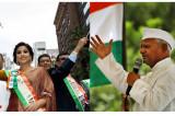 Anna Hazare, Vidya Balan Lead Biggest NY India Day Parade