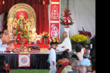 Sri Durga Puja at Vedanta Society of Greater Houston Brings in Devotees Despite the Rain