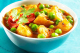 Mama's Punjabi Recipes- Aloo Mutter (Potatoe & Peas Curry)