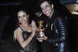 Nach Baliye 7 winners Himmanshoo Malhotra and Amruta Khanvilkar strike a pose with the trophy!