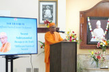 Swami Suhitananda, General Secretary Belur Math, Blesses Houston Devotees