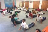 Hundreds Join Surya Namaskar Yogathon
