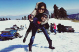 Drashti Dhami lives it up in the snow with hubby Neeraj Khemka