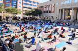 Houstonians Salute Good Health with the  Health for Humanity Yogathon