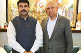 Dr. Agrawal Meets Minister Pradhan to Strengthen Houston-India Relations