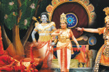 A Ram Leela in Kuchipudi Ballet Style with a Blue Avatar Lord Rama