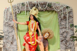 Durga Puja Illuminates with Kusum Sharma as Goddess Durga in the Mahishasur Mardini Show