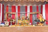 Chants of Jai Mata Di Resonate Sri Radha Krishna Temple in Houston