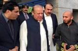 Shoe thrown at former Pakistan PM Nawaz Sharif in madrasa