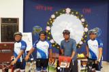 Nitin Sonawane Stops in Houston During his World Bicycle Tour
