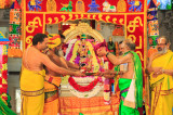 Heavenly Pattabhishekam for Goddess Meenakshi at Sri Meenakshi Temple