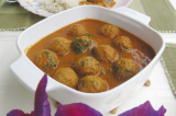 Mama's Punjabi Recipes: Bhaen De Kofte (Curried Lotus Root Balls)