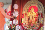 Record Attendance at the Season's First Durga Puja at Vedanta Society
