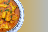 Mama's Punjabi Recipes: Arbi te Wadi di Turri  (EDDOE ROOT & LENTIL DUMPLING CURRY)