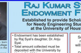 Raj Kumar Syal Endowment Fund at UH for Needy Engineering Students