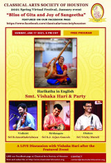 Cultural Arts Spring Festival Kick Off with Devotional Fervor: Vishaka Hari