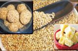 Mama's Punjabi Recipes: Til Bhuga Pinni (Jaggery Sesame Seed Balls)