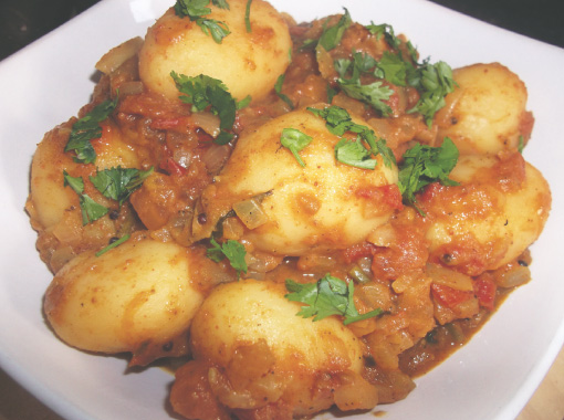 Dum Aloo ( STEAMED POTATOES IN CURRY)