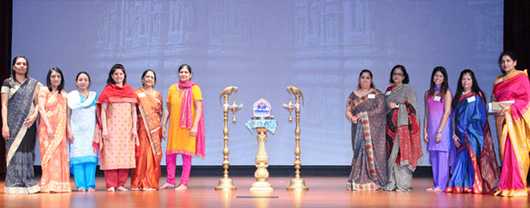 Lamp lighting ceremony on the stage