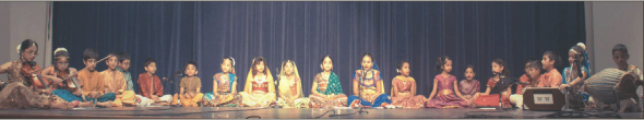Ecstatic Bhajan by Sunday school Children.  Photos: Thejas Rajaram