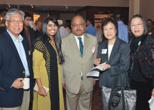 From Left : Gordon Quan, Khairunisa Hashmani, Latafath Hussain, Dr. Beverly Gor and Rogene Calvert  Photos: Bijay Dixit