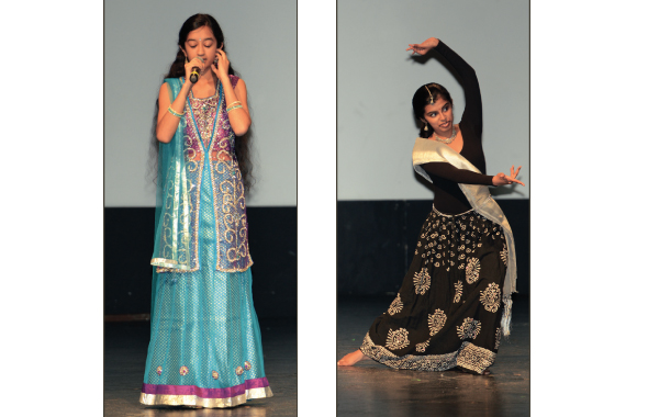 Lekha and Nikita in a song and dance performance