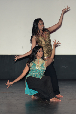 Deeksha Madala and Divya Koyyalagunta doing a dance medley.