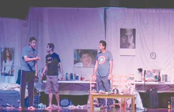 A scene from the play ''Kaka Mala Vachva''