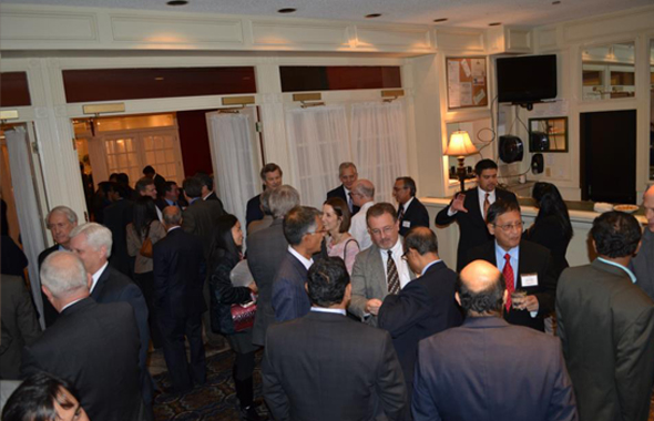 ASIE Members, guests, elected officials during networking and social.