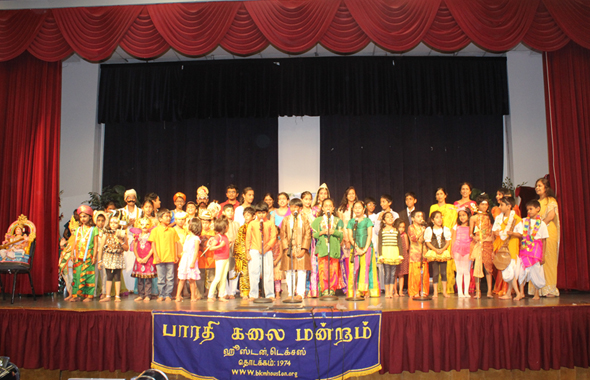 BKM Tamil School children during Tamil Thai Vaazthu.