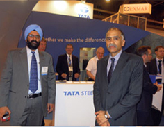 Indian Consul General at the Tata Steel exhibit.