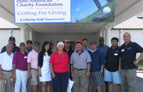 The second group of teams that registered for the IACF Golf Tournament along with several IACF Directors.        Photos: Jawahar Malhotra