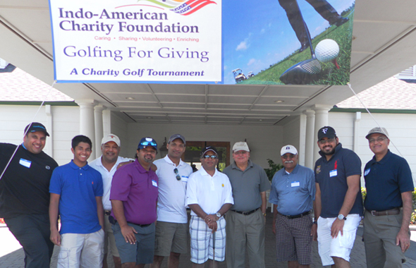The first group of teams that registered for the IACF Golf Tournament at the Tour 18 Golf Course in Humble on Saturday, May 4.