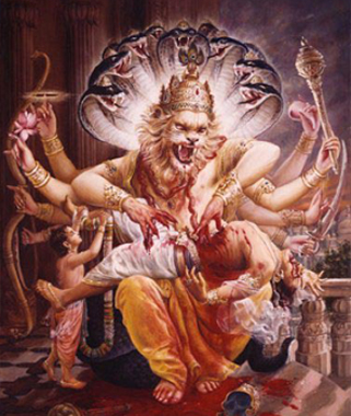 Lord Nrsimhadev Slays The Demon Hiranyakashipu