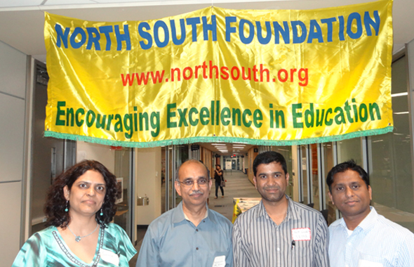 The coordinators of the Houston chapter NSF event, held at the Lone Star College on April 27.