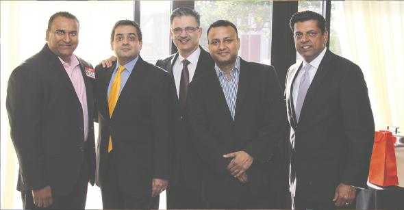 Circle of Influence Members: From left: Reji Varghese, Vivek Mehta, Zarir Sethna, Swapan Dubey, MD, Ajit John