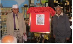 Launch of Hindi Patrika by Raghunath Sharma (right)  and J Rawat.