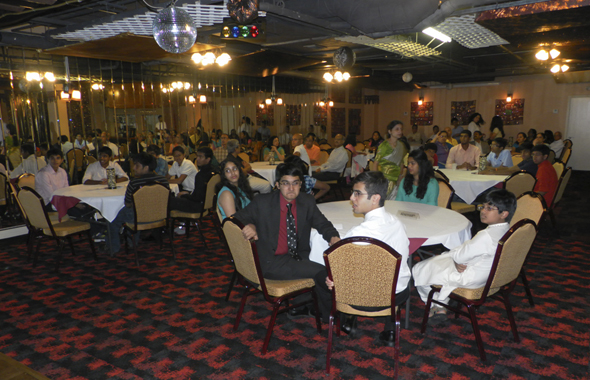 The graduating seniors at the party held at Mogul Restaurant in Clear Lake.