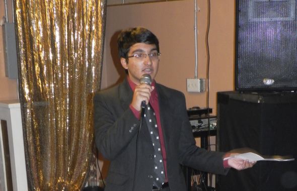 Rishi Suresh, a valedictorian, thanked the hosts on behalf of the graduating students.