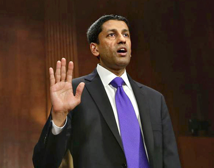 Sri Srinivasan being sworn in before testifying at his confirmation hearing at the Senate Judiciary Committee April 10, 2013, in Washington, D.C. (Getty Images)Read more at http://www.indiawest.com/news/11751-sri-srinivasan-sworn-in-as-d-c-appeals-court-judge.html#ZMGARmkBKfx8x4GA.99