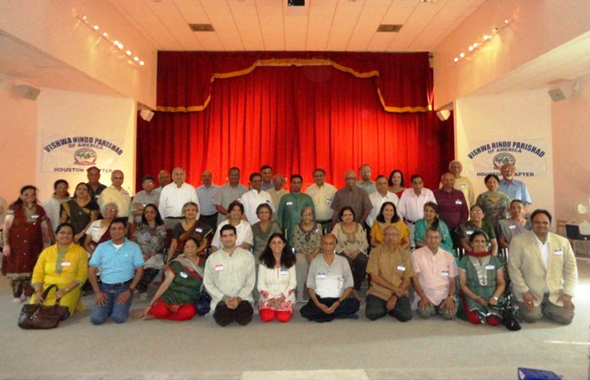 VHPA Houston Chapter, volunteers and HAVAN team at Arya Samaj