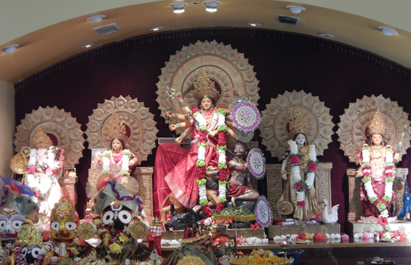 Ratha yatra celebrations at the Houston Durga Bari on Saturday, July 13. Photos: Parth Dwivedi