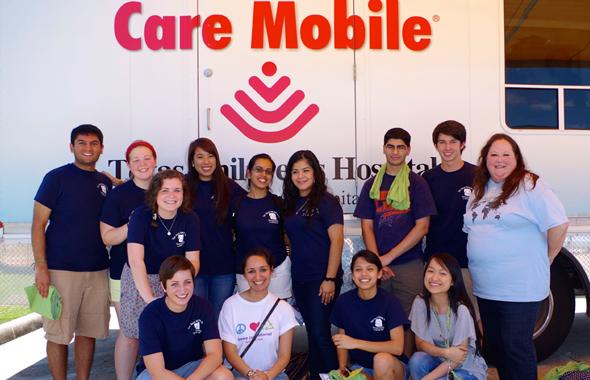 Interns of Sewa International Houston's summer Get Inspired Program at the Alief ISD immunization drive.        Photos: Michael Shemenski