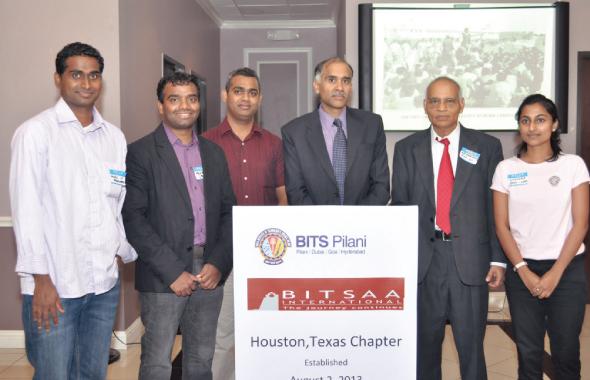 From left: Gurunathan Ponnuchamy, Venkat Yadha, Kalyan Chakravarthy, Consul General of India, P. Harish, Krishna Vavilala, Sindhura Reddy.