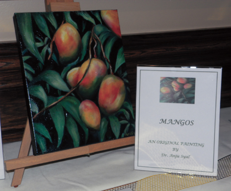 A painting by Dr. Anju Syal, who has been on the FHF Board, was displayed in the silent auction.          Photos: Jawahar Malhotra
