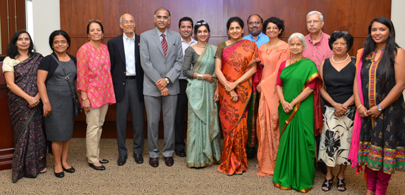 IACAN Board with Consul General Harish and his wife Nandita. Photos: Bijay Dixit