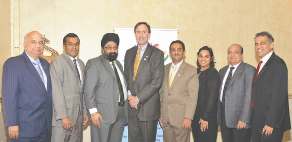 Congressman Pete Olson recently met with the Indo-American Chamber of Commerce of Greater Houston (IACCGH) for a luncheon on Friday, July 26 in Sugar Land. IACCGH had invited the leaders of business groups TiE and IIT Alumni association to join them at the meeting.  Photos: Bijay Dixit